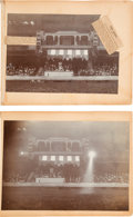 Western Expansion:Cowboy, [Johnny Baker]. Two Albumen Prints of the Royal Box at theOlympia....