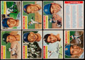Baseball Cards:Sets, 1956 Topps Baseball Complete Set (340) Plus One Checklist. ...