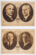 Political:Posters & Broadsides (1896-present), Cox & Roosevelt and Harding & Coolidge: A Fine Pair ofRotogravure Campaign Posters. ... (Total: 2 Items)