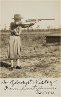 Autographs:Celebrities, Annie Oakley: Signed Photo Inscribed to One of Johnny Baker'sDaughters....