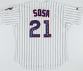 "Autographs:Jerseys, Sammy Sosa Signed Chicago Cubs Jersey - Includes ""66 HR MVP 158RBI"" Inscription. ..."