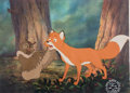 Animation Art:Production Cel, The Fox and the Hound Tod and Big Mama Production Cel Setup(Walt Disney, 1981). ...