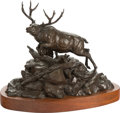 Fine Art - Sculpture, American, Clark Everice Bronson (American, b. 1939). Escape to the HighCountry, 1975. Bronze with brown patina. 13 inches (33.0 c...