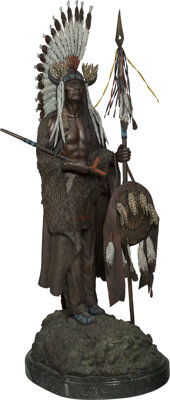 Harold Shelton (American, 1918-1999) War or Peace Bronze with polychrome 43-1/2 inches (110.5 cm)