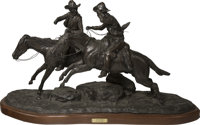 Jack Bryant (American, 1929-2012) On the Run Bronze with brown patina 21 inches (53.3 cm) high on