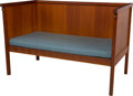 Furniture : American, A Danish Modern Oregon Pine Bench. 38-7/8 inches high x 54-1/2 inches wide x 30-1/4 inches deep (98.7 x 138.4 x 76.8 cm). ...