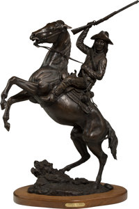 Jack Bryant (American, 1929-2012) Scouting the West Bronze with brown patina 35 inches (88.9 cm)