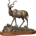 Fine Art - Sculpture, American:Contemporary (1950 to present), Clark Everice Bronson (American, b. 1939). Greater Kudu,1973. Bronze with brown patina. 13 inches (33.0 cm) high on a 1...