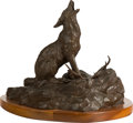 Fine Art - Sculpture, American, Clark Everice Bronson (American, b. 1939). Calling the Pack,1978. Bronze with brown patina. 12 inches (30.5 cm) high on...