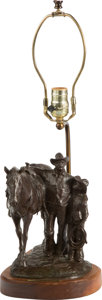 Sculpture, Melvin Charles Warren (American, 1920-1995). Words of Wisdom, 1976. Bronze with brown patina. 9-1/2 inches (24.1 cm) hi...