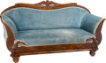 Furniture : Continental, An Important Wilhelm Kimbel South German Biedermeier Sofa withEagle Motif, circa 1835. 40-3/4 h x 77 w x 27 d inches (103.5...(Total: 2 Items)