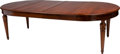 Furniture : Continental, A Large Mahogany Dining Table, 19th century. 30-3/4 h x 102 w x 53d inches (78.1 x 259.1 x 134.6 cm) (leaves installed). ... (Total:3 Items)