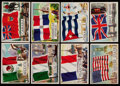 """Non-Sport Cards:Sets, 1956 Topps """"Flags of the World"""" Complete Set (80)...."""