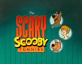 Animation Art:Production Cel, The Scary Scooby Funnies Main Title/Bumper Cel (Hanna-Barbera, 1984). ...