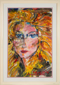 Political:Presidential Relics, [Donald Trump]: Painting of Marla Maples by Pablo Carreño....