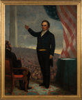 Political:3D & Other Display (pre-1896), Daniel Webster: Dedication of Bunker Hill Monument Painting....