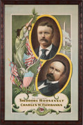 Political:Posters & Broadsides (1896-present), Roosevelt & Fairbanks: Impressive and Colorful JugatePoster....