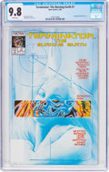 Modern Age (1980-Present):Science Fiction, Terminator: The Burning Earth #1 (Now Comics, 1990) CGC NM/MT 9.8White pages....