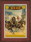 Miscellaneous:Broadside, Ben Hur: Circa 1912 Theatrical Poster....