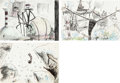 Animation Art:Production Drawing, Tim Burton's Nightmare Before Christmas Jack SkellingtonStoryboard/Concept Art Group of 3 (Touchstone, 1993). ... (Total: 3Items)