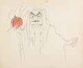 Animation Art:Production Drawing, Snow White and the Seven Dwarfs Old Hag Animation Drawing(Walt Disney, 1937). ...