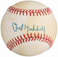 Autographs:Baseballs, Carl Hubbell Single Signed Baseball. ...