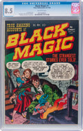 Golden Age (1938-1955):Horror, Black Magic #1 (Prize, 1950) CGC VF+ 8.5 Off-white pages....