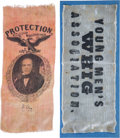 Political:Ribbons & Badges, Henry Clay: Two 1844 Silk Campaign Ribbons....