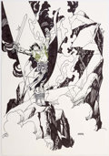 Original Comic Art:Splash Pages, Gil Kane - Barbarian Pin-Up Original Art (c. 1992)....