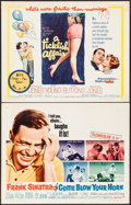 """Movie Posters:Comedy, Come Blow Your Horn & Other Lot (Paramount, 1963). Half Sheets (2) (22"""" X 28""""). Comedy.. ... (Total: 2 Items)"""