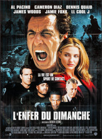 "Any Given Sunday (Warner Bros., 1999). Folded, Very Fine+. French Grande (45.75"" X 62""). Sports"