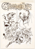 Original Comic Art:Covers, ThunderCats: Exodus [Book and Recording] Original Art (PeterPan, 1986)....