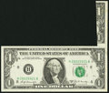 Error Notes:Attached Tabs, Foldover Error Fr. 1905-H $1 1969B Federal Reserve Note. ExtremelyFine.. ...