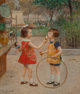 Victor Gabriel Gilbert (French, 1847-1933) Glaces du jour Oil on canvas 18-1/4 x 15 inches (46.4 x 38.1 cm) Signed l