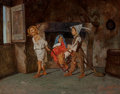Fine Art - Painting, European:Antique  (Pre 1900), Giuseppe Costantini (Italian, 1843-1893). Neapolitan children at play, 1878. Oil on canvas. 8-3/8 x 10-3/4 inches (21.3 ... (Total: 2 Items)