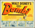 "Movie Posters:Animation, Bambi (RKO, 1942). Title Lobby Card (11"" X 14""). Animation.. ..."