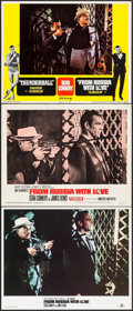 "Movie Posters:James Bond, From Russia with Love (United Artists, 1964/R-1968/R-1984). LobbyCards (3) (11"" X 14"") & British Front of House Color Photo...(Total: 4 Items)"