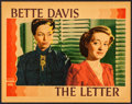 """Movie Posters:Film Noir, The Letter (Warner Brothers, 1940). Linen Finish Lobby Card (11"""" X14""""). Film Noir.. ..."""