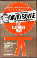 """Movie Posters:Drama, David Bowie in The Elephant Man (Booth Theatre, 1980). TheaterWindow Card (14"""" X 22""""). Drama.. ..."""