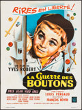 """Movie Posters:Foreign, War of the Buttons (Warner Brothers, 1962). French Moyenne (23.5"""" X 31.5"""") Jean Mascii Artwork. Foreign.. ..."""