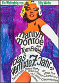 "Movie Posters:Comedy, The Seven Year Itch (Atlas, R-1966). Full-Bleed German A1 (23.25"" X33""). Comedy.. ..."