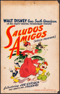 "Movie Posters:Animation, Saludos Amigos (RKO, 1942). Window Card (14"" X 22""). Animation.. ..."