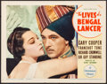 """Movie Posters:Adventure, The Lives of a Bengal Lancer (Paramount, 1935). Lobby Card (11"""" X14""""). Adventure.. ..."""