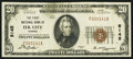 National Bank Notes:Kansas, Elk City, KS - $20 1929 Ty. 1 The First NB Ch. # 8145. ...