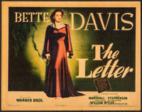 """The Letter (Warner Brothers, 1940). Linen Finish Title Lobby Card (11"""" X 14""""). Film Noir"""