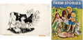 Animation Art:Production Drawing, Farm Stories Signed Limited First Edition Book #10/650 with Original Illustration by Gustaf Tenggren (Simon and Schust... (Total: 2 Items)