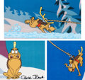 Animation Art:Production Cel, Doctor Seuss' How the Grinch Stole Christmas Max SignedProduction Cel Group of 3 (MGM, 1966). ... (Total: 3 Items)