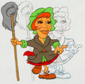 "Animation Art:Production Cel, Carol Burnett ""Charwoman"" Production Cel and Drawing (undated). ..."