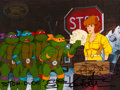 Animation Art:Production Cel, Teenage Mutant Ninja Turtles Signed Production Cel Setup(Murakami-Wolf-Swenson, 1987). ...