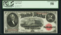 Large Size:Legal Tender Notes, Fr. 60 $2 1917 Legal Tender PCGS Choice About New 58.. ...